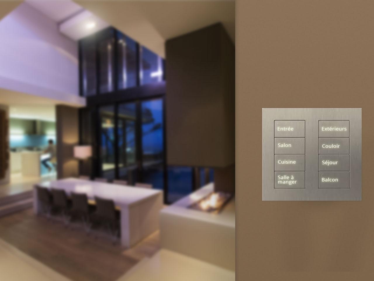 Système d'éclairage automatique résidentiel